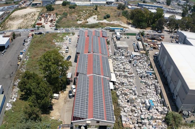 מערכת סולארית מסחרית קרית אתא